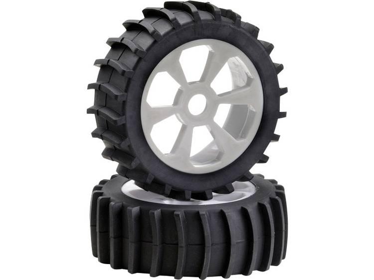 Absima 1:8 Buggy Complete wielen 6-spaaks Wit 1 stuks