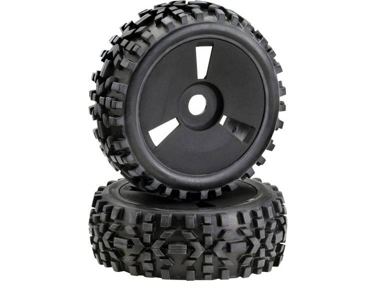 Absima 1:8 Buggy Complete wielen Schijf Zwart 1 stuks