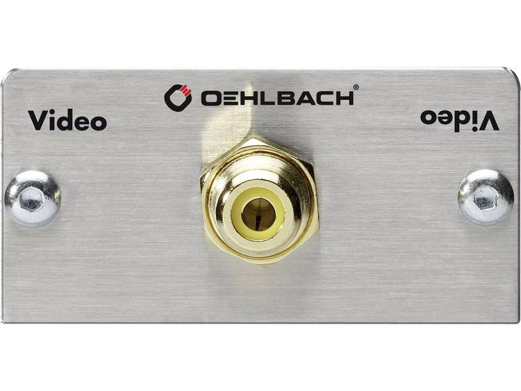 Oehlbach Digitale cinch Adapter [1x Cinch-koppeling => 1x Solderen] Aluminium, Goud