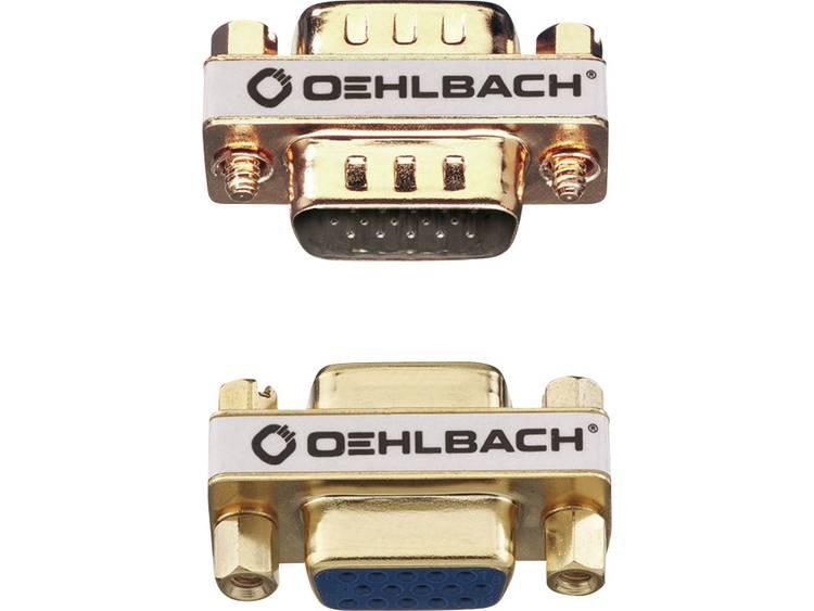 Oehlbach VGA Adapter [1x VGA bus <=> 1x VGA bus] Goud
