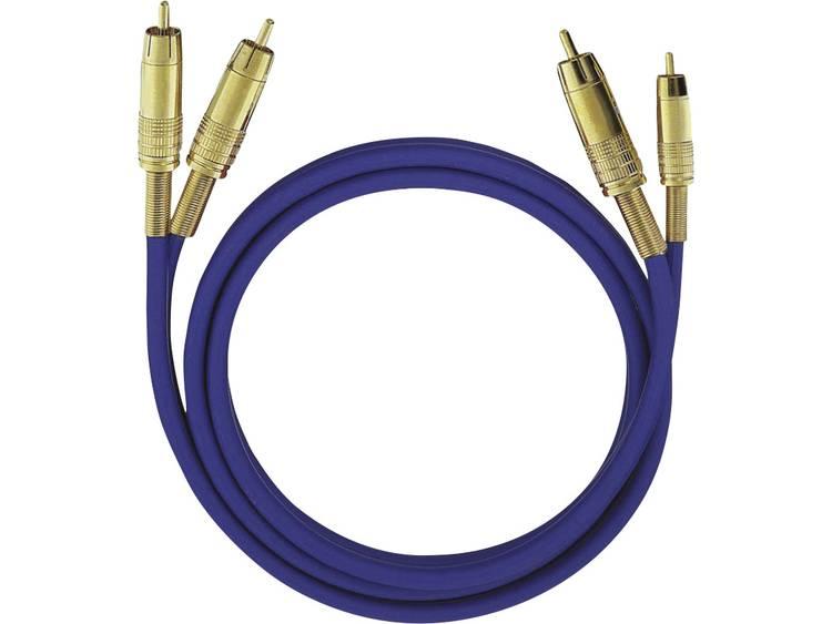 Oehlbach Cinch Audio Kabel [2x Cinch-stekker - 2x Cinch-stekker] 1 m Zwart Vergulde steekcontacten