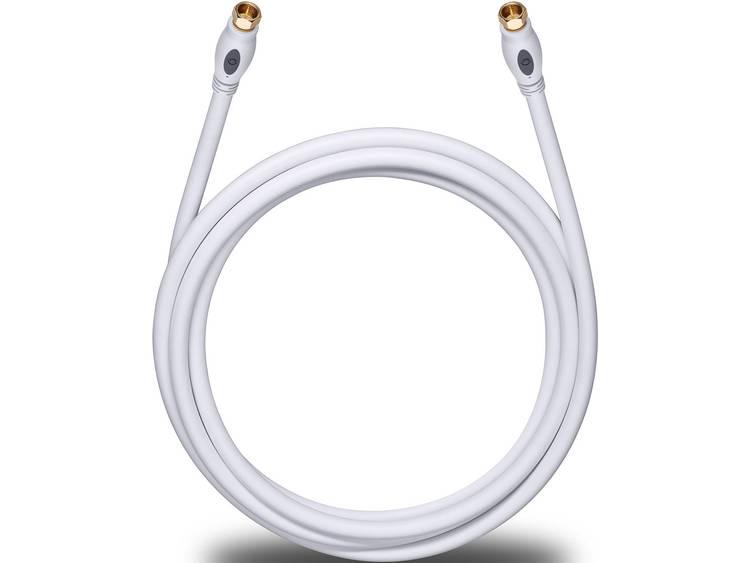 Antenne, Satelliet Kabel [1x F-stekker - 1x F-stekker] 5.10 m 120 dB Vergulde steekcontacten Wit Oehlbach Transmission Plus S