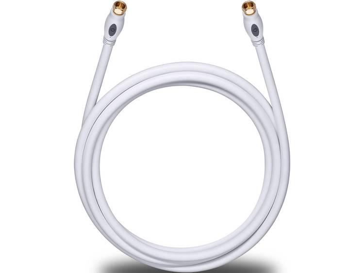 Antenne, Satelliet Kabel [1x F-stekker - 1x F-stekker] 7.50 m 120 dB Vergulde steekcontacten Wit Oehlbach Transmission Plus S