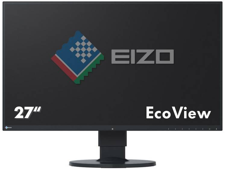 LED-monitor 68.6 cm (27 inch) EIZO EV2750-BK Energielabel A 2560 x 1440 pix WQHD 5 ms DisplayPort, HDMI, DVI IPS LED