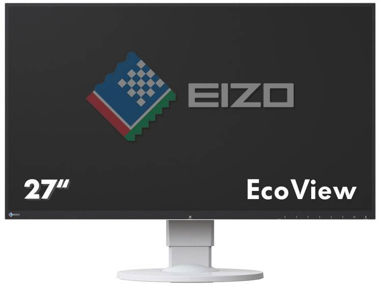 LED-monitor 68.6 cm (27 inch) EIZO EV2750-WT Energielabel A 2560 x 1440 pix WQHD 5 ms DisplayPort, HDMI, DVI IPS LED