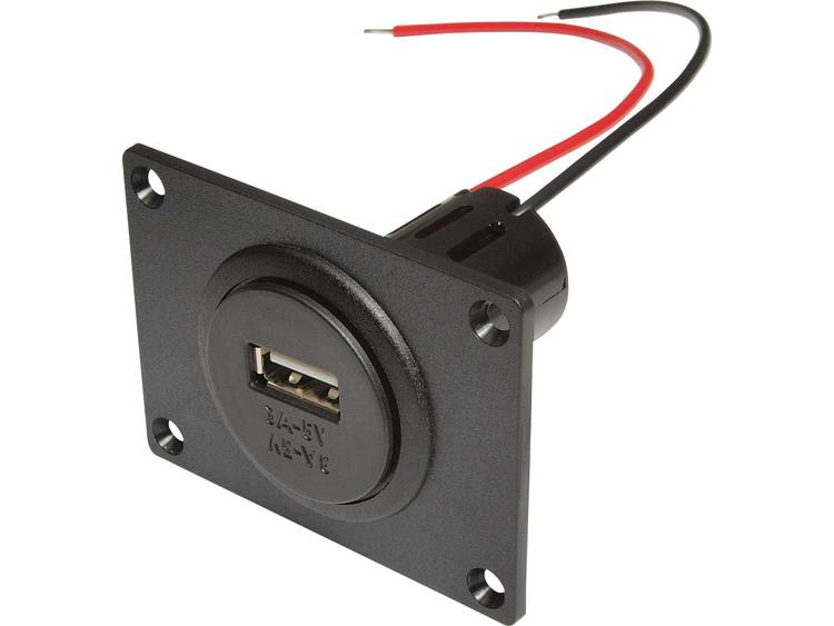 ProCar 67332501 Power USB inbouwstopcontact met montageplaat Stroombelasting (max.)=3 A Geschikt voor USB A