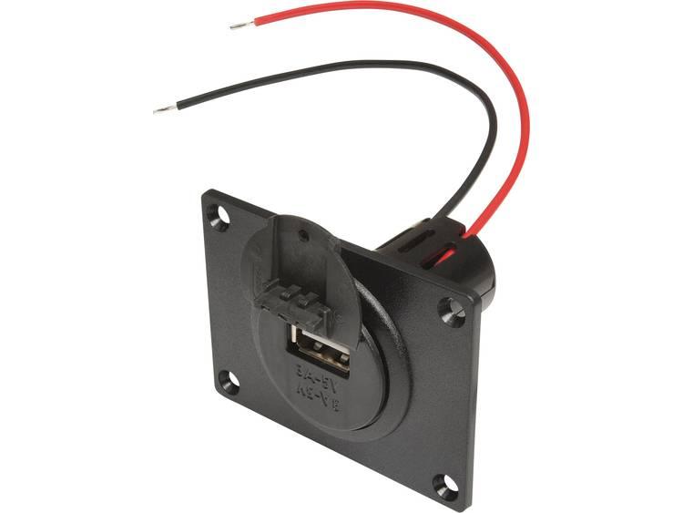 ProCar 67332601 Power USB inbouwstopcontact met montageplaat en deksel Stroombelasting (max.) 3 A Geschikt voor USB A
