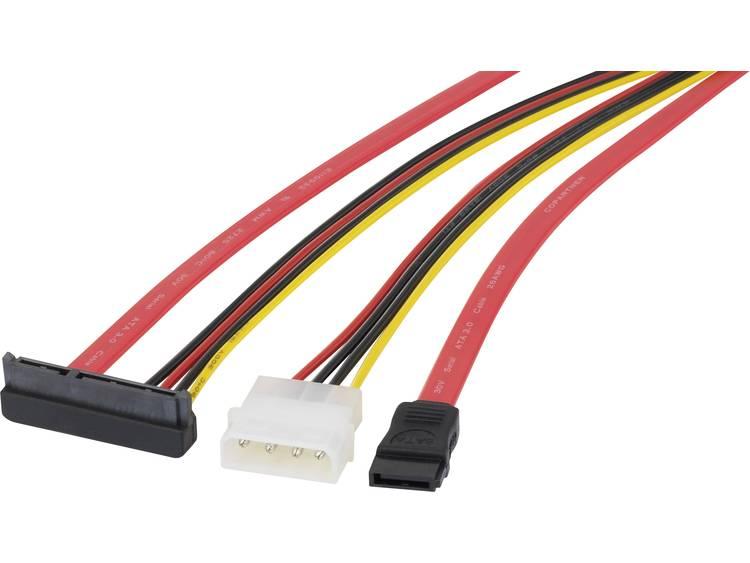 renkforce Harde schijf Aansluitkabel [1x SATA-bus 7-polig, IDE-stroomstekker 4-polig 1x SATA-combi-b