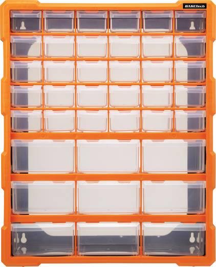 Werkplaatsmagazijnkast (l x b x h) 160 x 385 x 485 mm Basetech Aantal vakken: 39 Vaste onderverdeling