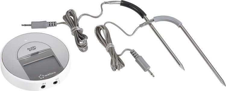 Barbecuethermometer gratis app. kabelsensor. alarm. automatische uitschakeling Renkforce