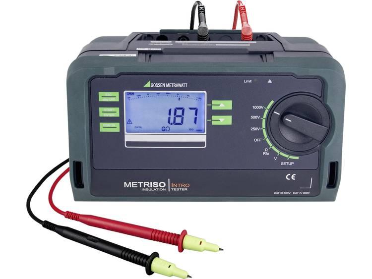 Gossen Metrawatt Metriso Intro Isolatiemeter 250 V 500 V 1000 V 10 G⦠Kalibr