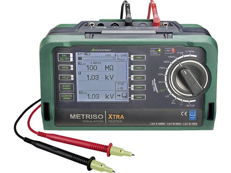 Gossen Metrawatt Metriso XTRA Isolatiemeter 50 V 100 V 250 V 500 V 1000 V 1