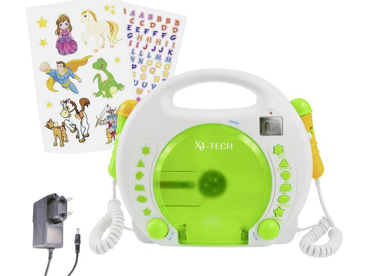 X4 Tech Kinder CD-speler Wit, Groen CD, MP3