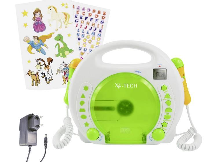 X4 Tech Kinder CD-speler Wit, Groen CD, MP3