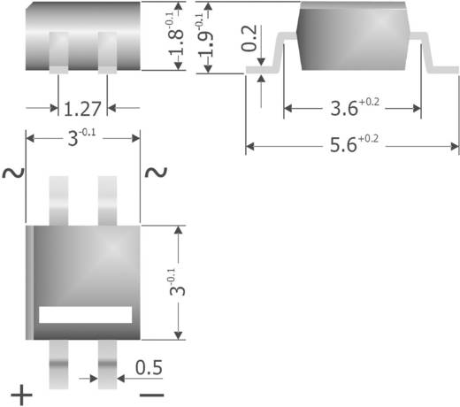 Silicium-bruggelijkrichter Diotec MYS40 Soort behuizing MicroDIL Nominale stroom (details) 500 mA U(RRM) 80 V