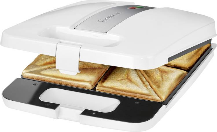 Image of Clatronic ST3629 4-fach Sandwich toaster Wit-zilver