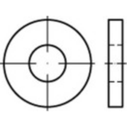 TOOLCRAFT 140971 Onderlegringen Binnendiameter: 21 mm DIN 7349 Staal galvanisch verzinkt 25 stuks