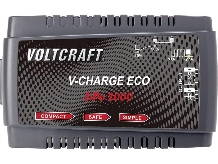 VOLTCRAFT V-Charge Eco LiPo 2000 Modelbouw oplader 230 V 2 A Li-poly