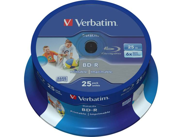 Verbatim BD-R SL DATALIFE 25GB 6X 25 pk spindel (43811)