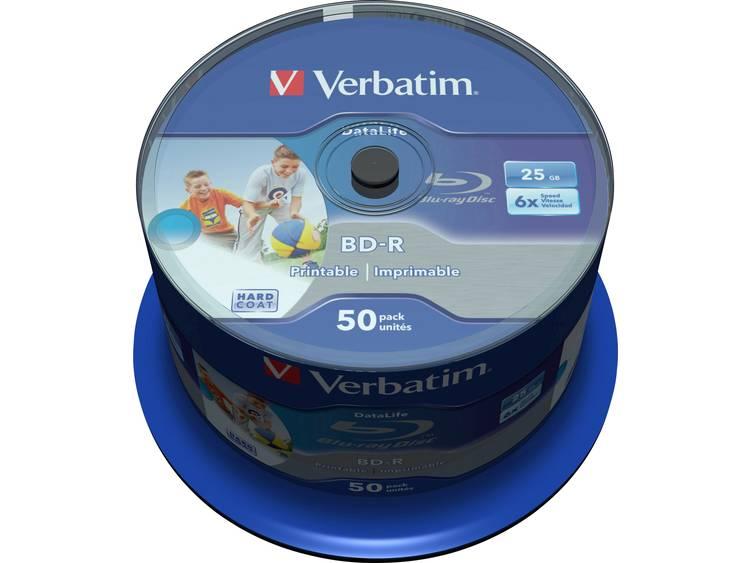 Verbatim 43812 Blu-ray BD-R SL disc 25 GB 50 stuks Spindel Bedrukbaar