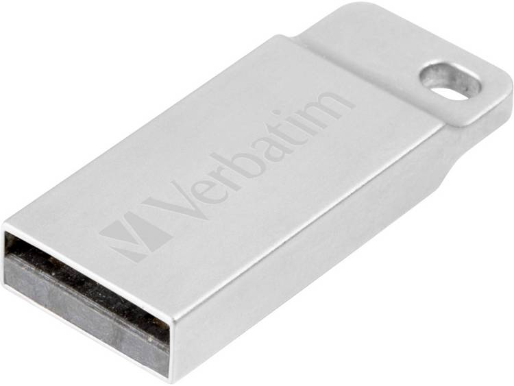 Verbatim Metall-Gehäuse USB-stick 64 GB USB 2.0 Zilver 98750