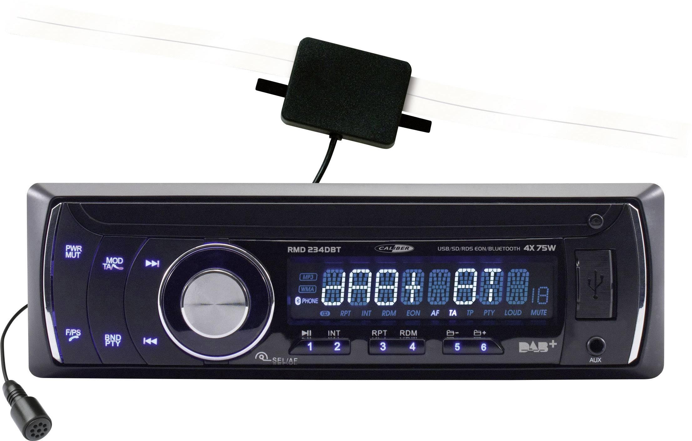 Conrad-Caliber Audio Technology RMD 234DBT Autoradio enkel DIN DAB+ tuner, Bluetooth handsfree-aanbieding