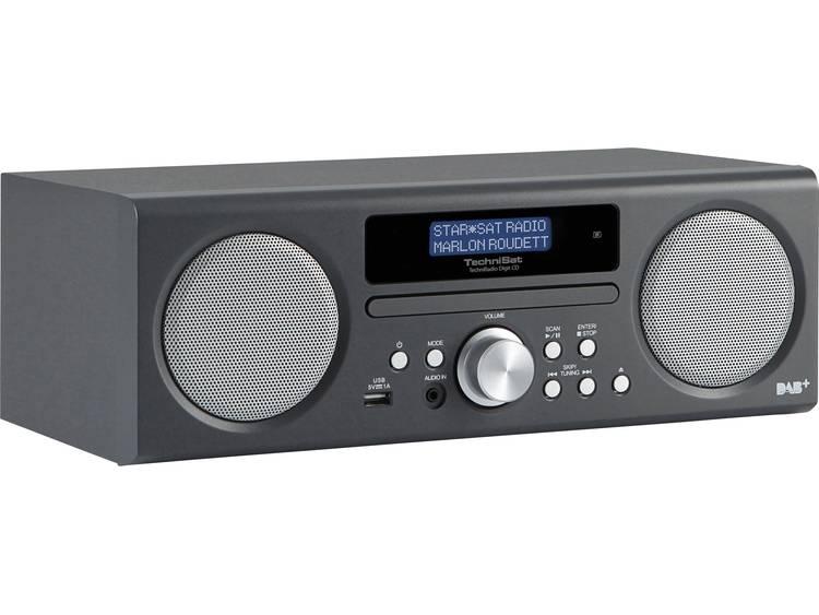 TechniSat TechniRadio Digit CD DAB+ Tafelradio AUX, CD, DAB+, FM, USB Antraciet