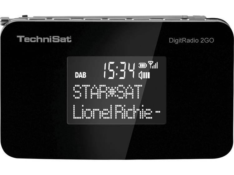TechniSat DigitRadio 2Go DAB+ Zakradio DAB+, FM Herlaadbaar Zwart