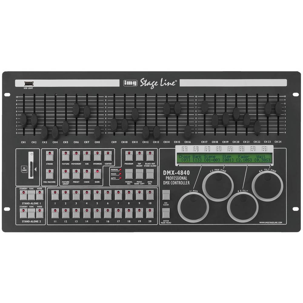 IMG STAGELINE DMX-4840 DMX Controller Musikstyrning, 19-konstruktion