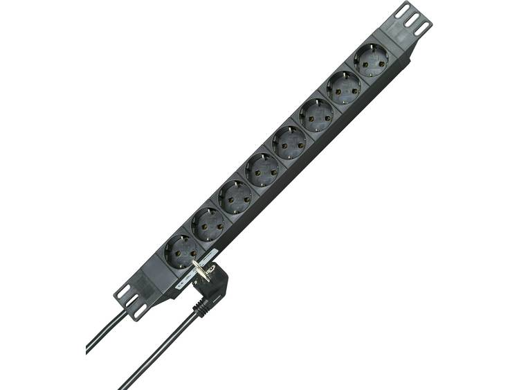 Kopp 930805014 Stekkerdoos 19 inch 8-voudig 2 m Geaarde stekker Zwart