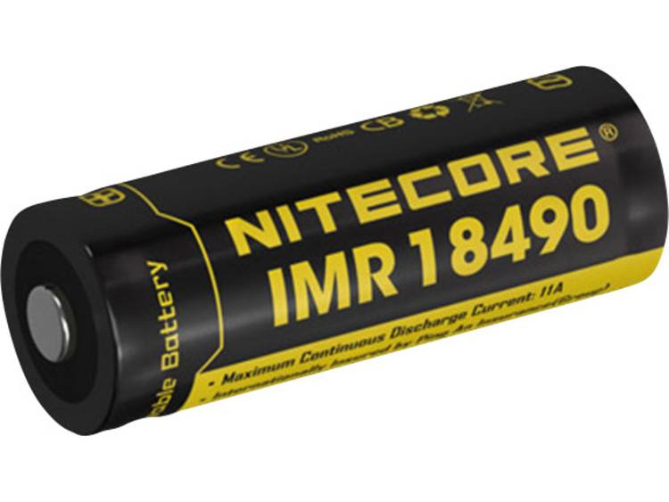 NiteCore 18490IMR Speciale oplaadbare batterij 18490 Li-ion 3.7 V 1100 mAh