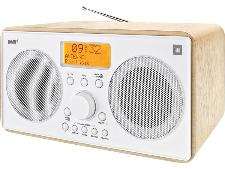 Dual DAB+ radio Tafelradio Hout