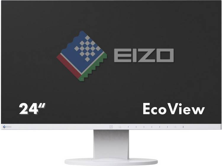 LED-monitor 60.5 cm (23.8 inch) EIZO EV2450-WT Energielabel A+ 1920 x 1080 pix Full HD 5 ms DVI, USB, VGA, HDMI, DisplayPort, Audio, 5.1 (3.5 mm jackplug) IPS