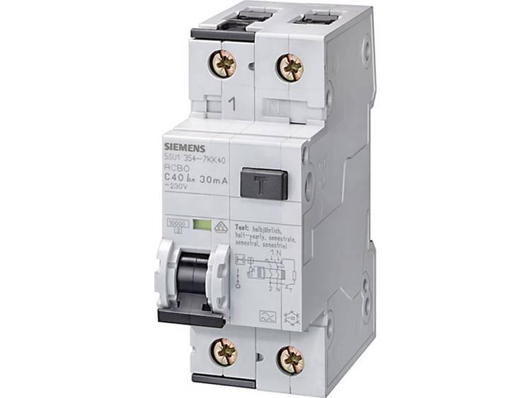 Siemens 5SU1654-7KK25 Aardlekschakelaar-zekeringautomaat 2-polig 25 A 0.3 A 230 V