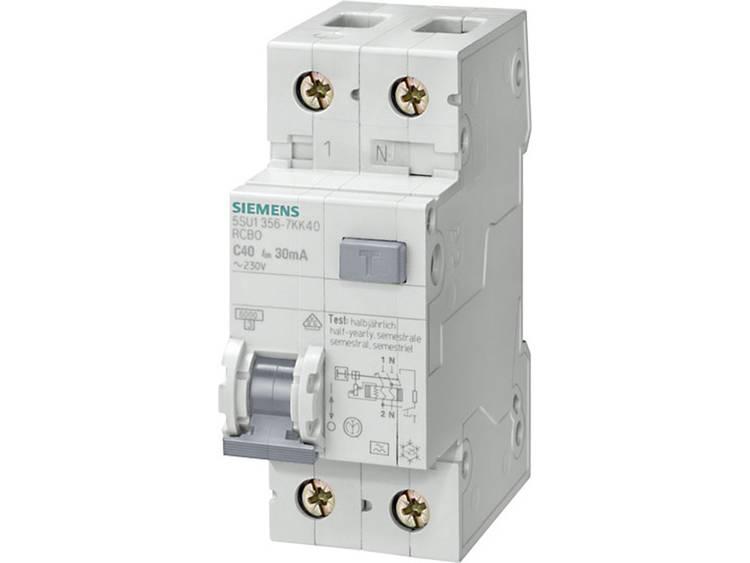 Siemens 5SU1656-7KK06 Aardlekschakelaar-zekeringautomaat 2-polig 6 A 0.3 A 230 V