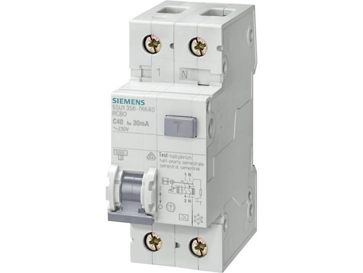 Siemens 5SU1656-7KK20 Aardlekschakelaar-zekeringautomaat 2-polig 20 A 0.3 A 230 V