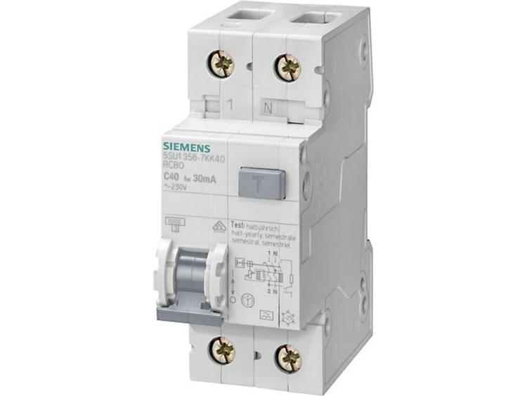 Siemens 5SU1656-7KK25 Aardlekschakelaar-zekeringautomaat 2-polig 25 A 0.3 A 230 V