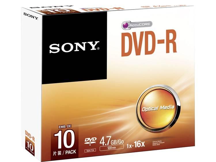 DVD-R disc 4.7 GB Sony DMR47SS 10 stuks Slimcase