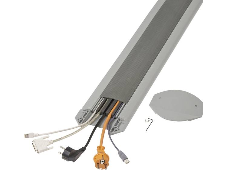 Serpa Kabelbrug TPE Lichtgrijs, Donkergrijs Aantal kanalen: 5 3000 mm Inhoud: 1 set