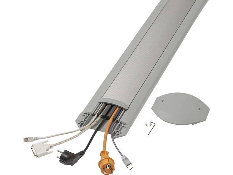 Serpa Kabelbrug Aluminium, Lichtgrijs Aantal kanalen: 5 3000 mm Inhoud: 1 set