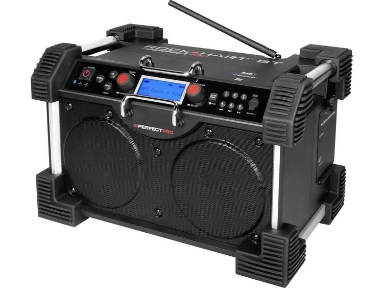 PerfectPro Rockhart BT Bouwradio DAB+, FM AUX, Bluetooth Accu laadfunctie, Spatw