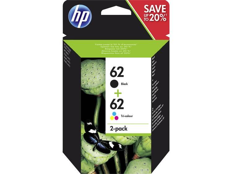 HP Inkt 62 Origineel Combipack Zwart, Cyaan, Magenta, Geel N9J71AE