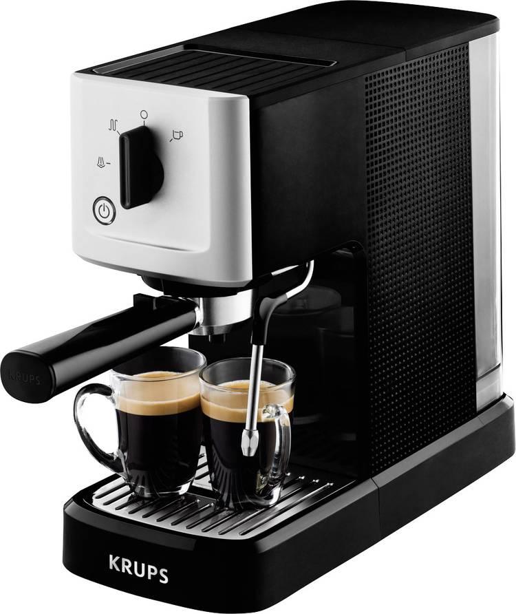 Image of Espressomachine Krups Calvi XP3440 Zilver, Zwart 1460 W met melkopschuimer