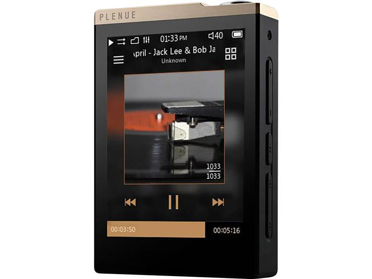 Cowon Plenue D. mp3 speler. 32GB. goud