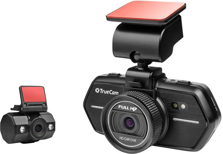 TrueCam A6 Dashcam Kijkhoek horizontaal (max.): 110  12 V. 24 V Dualcamera. Accu. Display. Microfoon