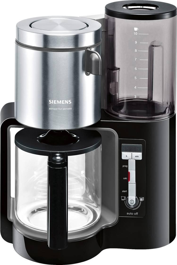 Image of Koffiezetapparaat Siemens TC86303 Zwart, Antraciet Capaciteit koppen=15 Glazen kan, Warmhoudfunctie
