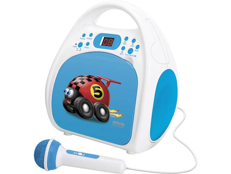 Silva Schneider Kids Play One Kinder CD-speler CD, CD-R Incl. microfoon Blauw