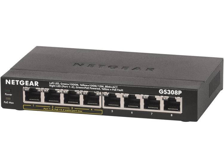 NETGEAR GS308P Netwerk switch RJ45 8 poorten 1 Gbit/s PoE-functie