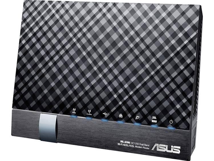 WiFi router met modem Asus DSL-AC56U Geïntegreerd modem: VDSL, ADSL2+, ADSL 2.4 GHz, 5 GHz 1.2 Gbit/s