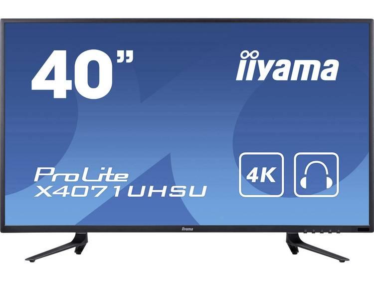 Iiyama X4071UHSU-B1 LED-monitor 101.6 cm (40 inch) Energielabel B (A+ – F) 3840 x 2160 pix UHD 2160p (4K) 3 ms USB 3.0, VGA, HDMI, DisplayPort MVA LED